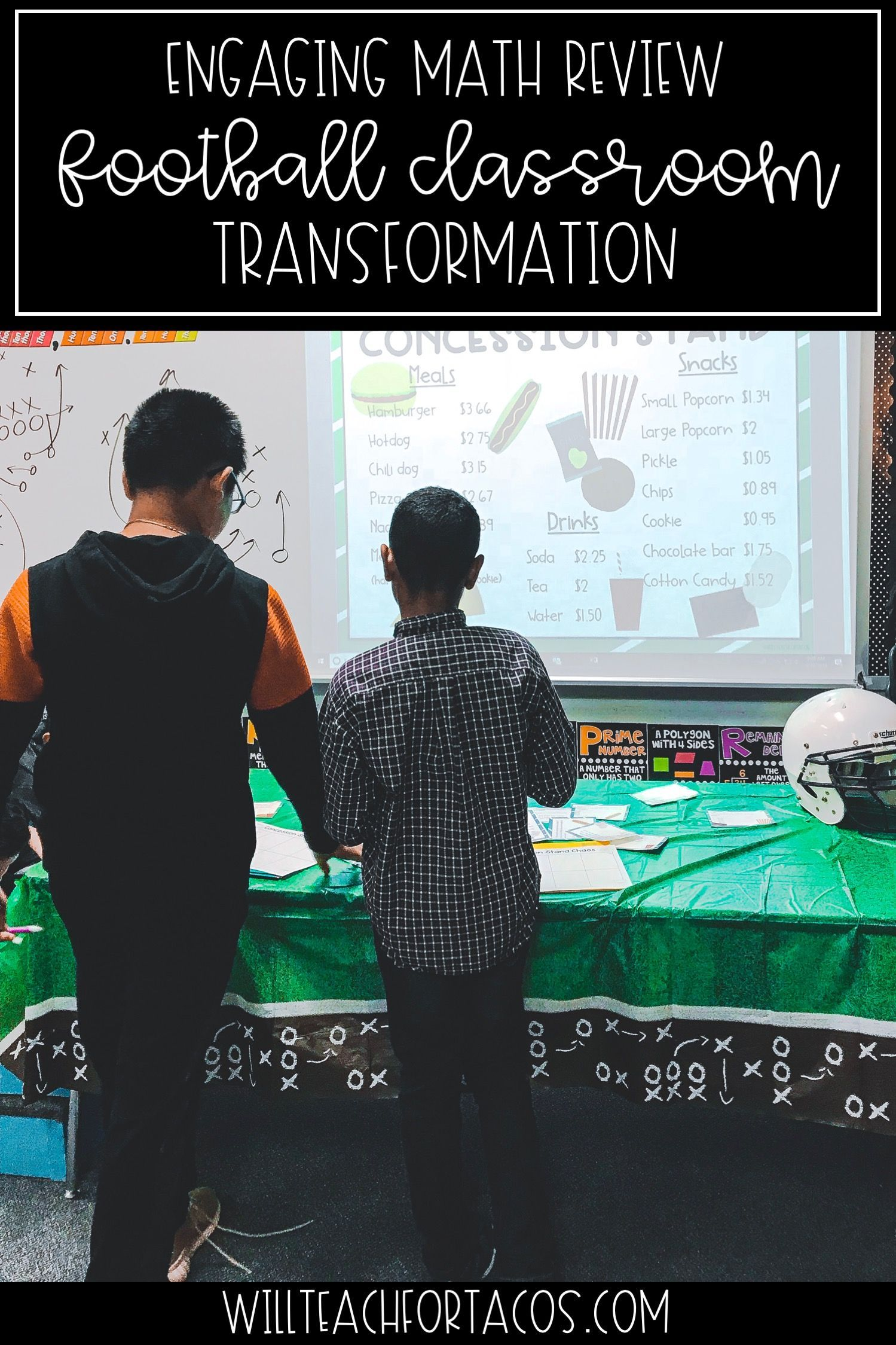 I Don T Know About You But My Students Love Sports And All Things Football Themed To Feed Off Of That Lo Classroom Transformation Math Prep Staar Review Math [ 2249 x 1499 Pixel ]