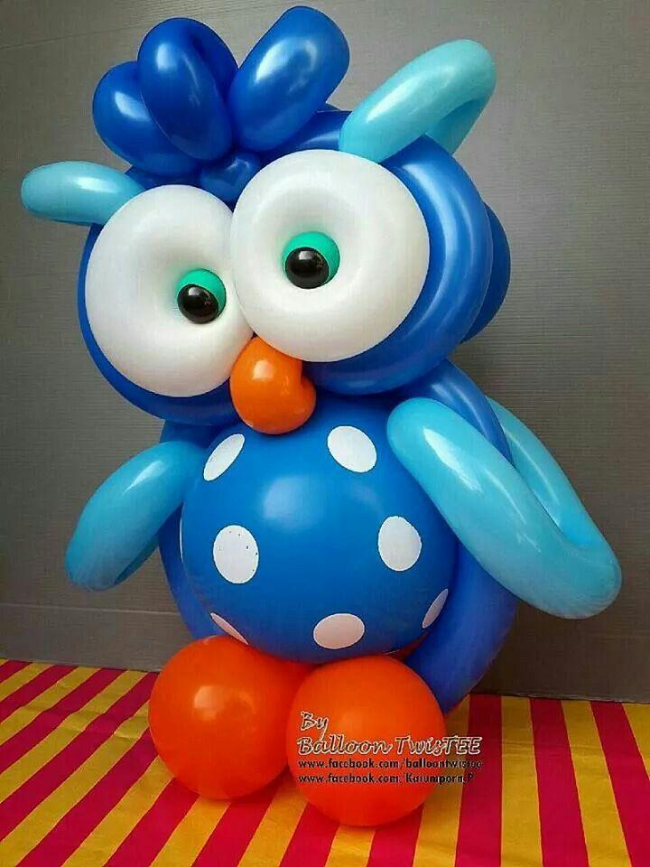 Blue Owl Twist Balloon balloons Pinterest Globo, Decoración