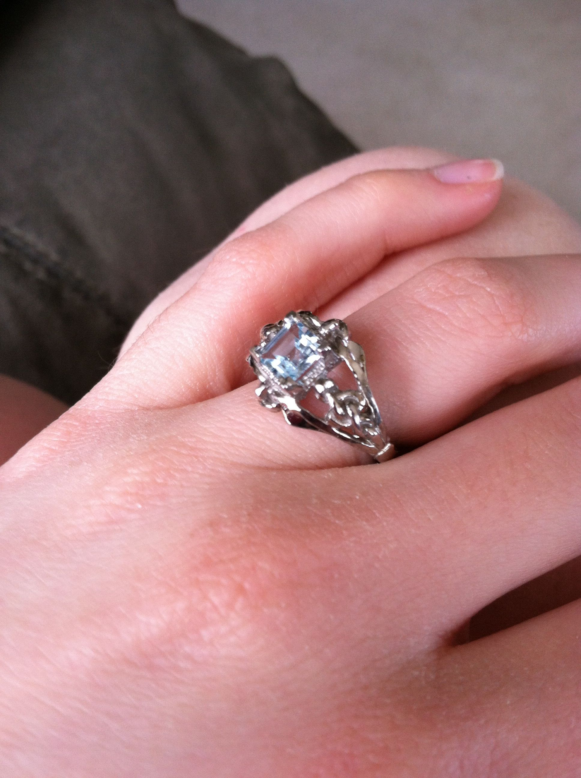 This is my actual engagement ring. It is based off Denna\'s Ring from ...
