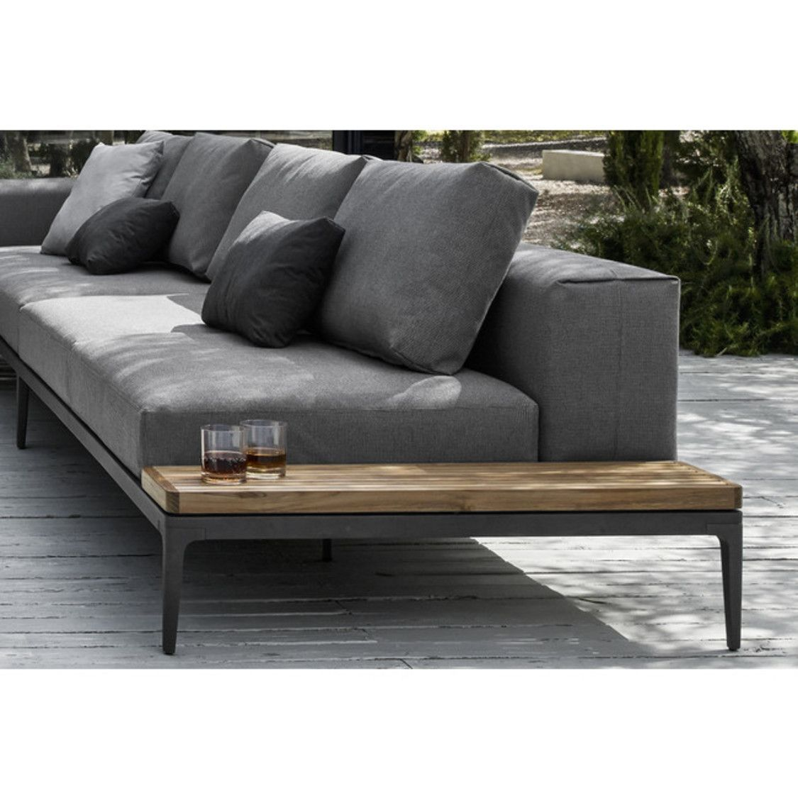 Garten Lounge Gloster Grid End Table Unit Gloster Garten Gloster Grid Lounge Table In 2020 Gloster Outdoor Furniture Outdoor Sofa Lounge