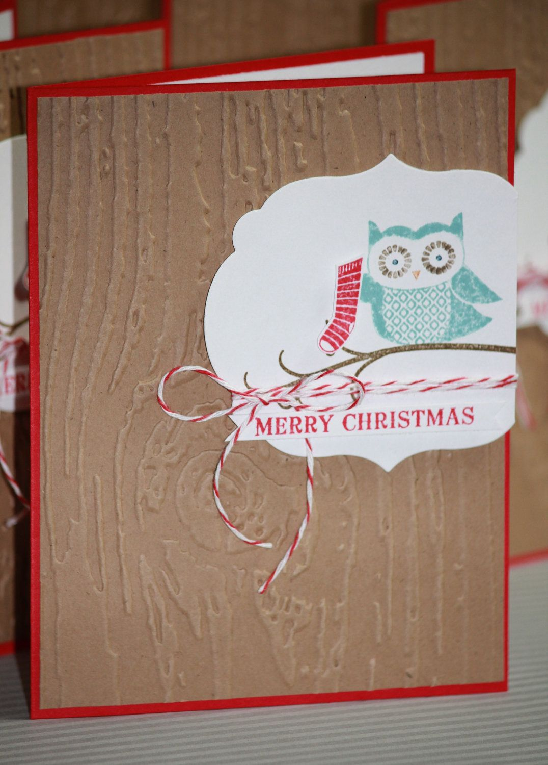 Owl wishing you holiday cheer cards fun wrapping ideas find this pin and more on cards fun wrapping ideas kristyandbryce Gallery