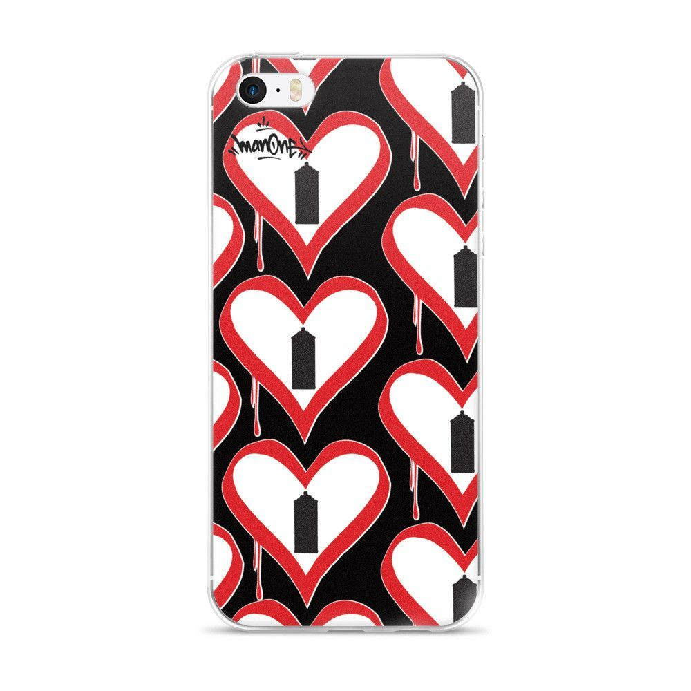 "NEW! ""SPRAY CAN HEARTS"" - iPhone 5/5s/Se, 6/6s, 6/6s Plus Case"