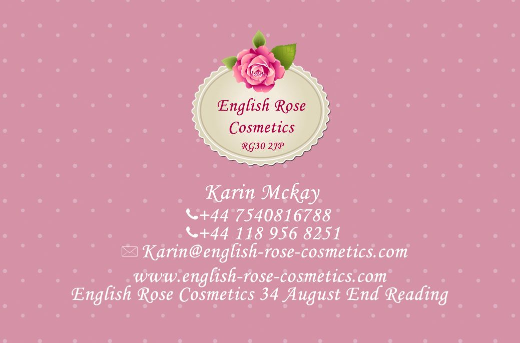 English Rose Cosmetics Business Card Design | my future floral shop ...