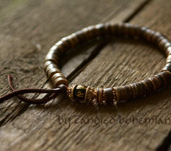 Men S Beaded Bracelet Yoga Jewelry Tibetan By Candbohemian