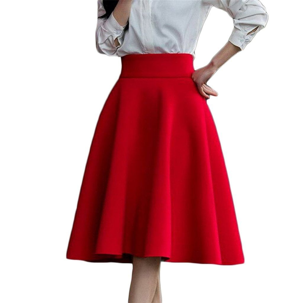 Aomei Women S High Waist Knee Length Skirt Shop2online Best Woman S Fashion Products Designed To Provide Pleated Long Skirt Red Pleated Skirt High Waisted Skirt