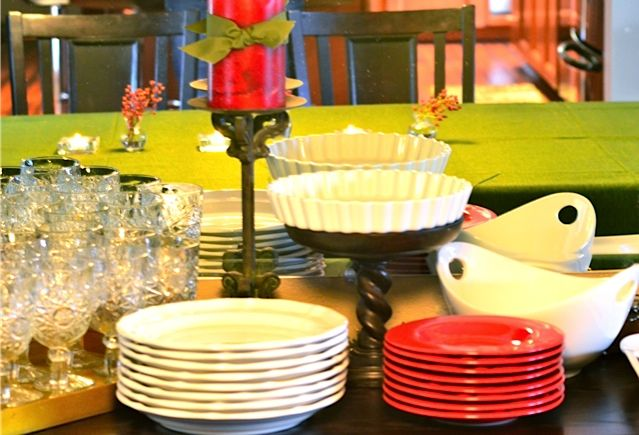 How To Set Up For A Holiday Buffet In Small Spaces