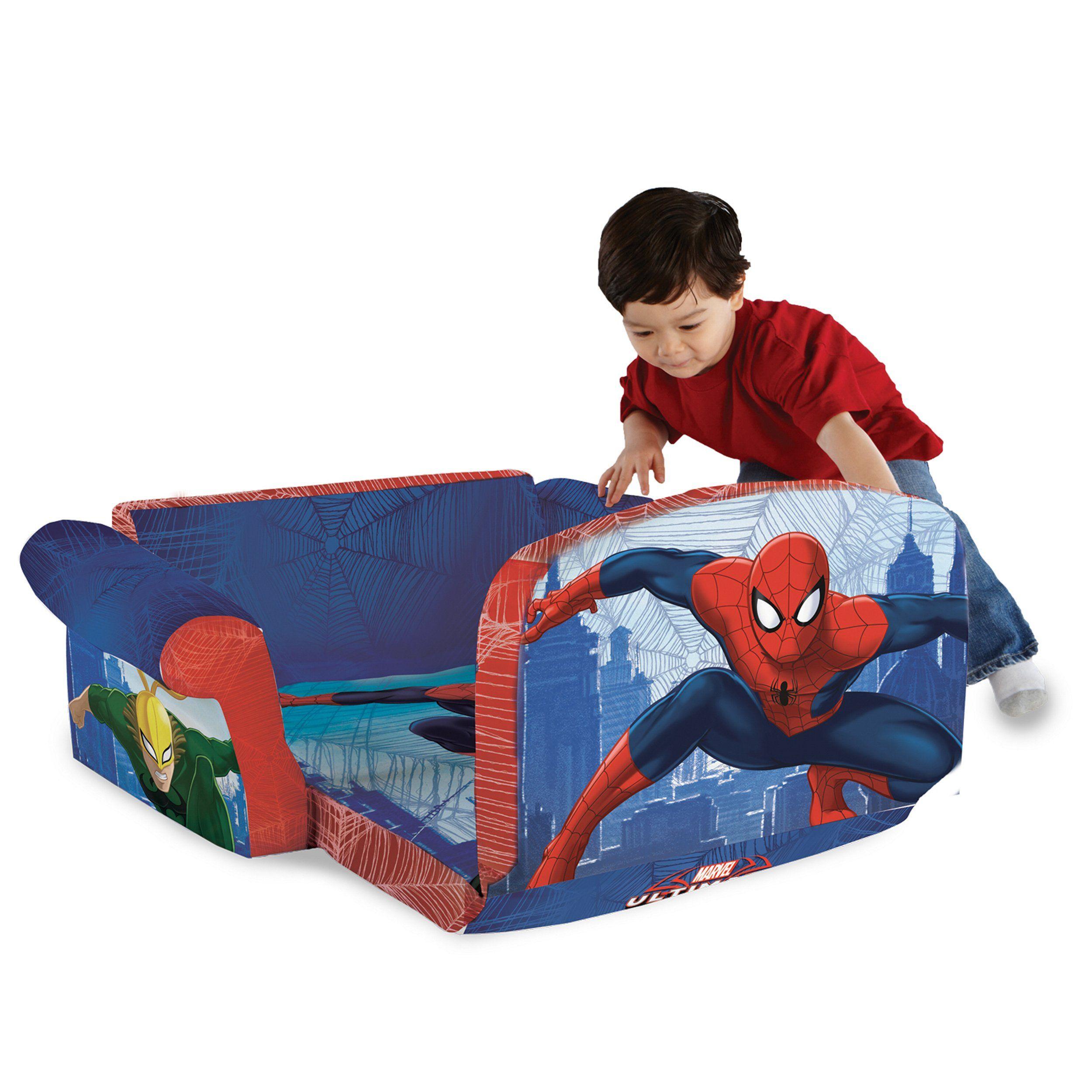 Marshmallow Furniture Childrens 2 In 1 Flip Open Foam Sofa Marvel
