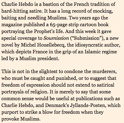 Financial Times Writer Says Charlie Hebdo 'Just Being Stupid,' 'Not the Most Convincing Champion' of Free Speech - Hit & Run : Reason.com And for my NEXT magical trick We'll elect a RAPIST for two terms for president. Billy the Clinton the FIRST BLACK president! Ta Da
