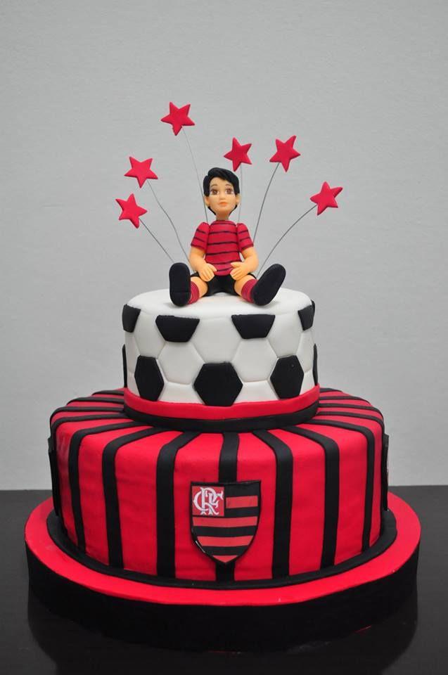 Pin De Natacha Simoes Em His Bday Cake Bolo Decorado Do Flamengo