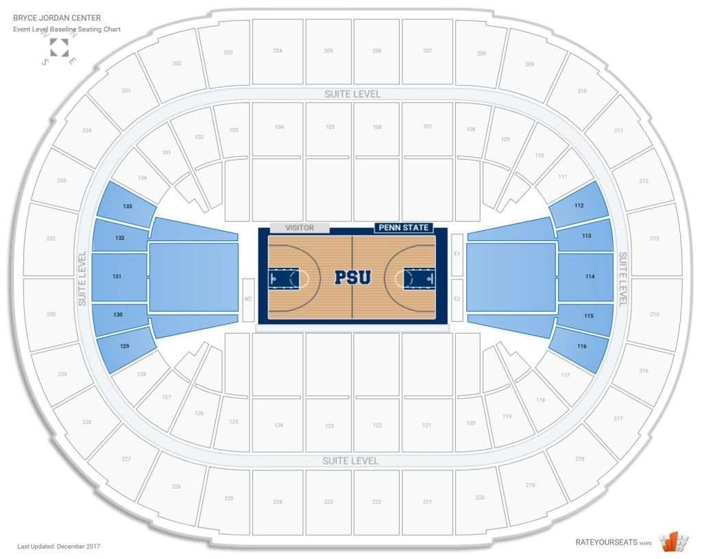 The Most Brilliant Bryce Jordan Center Seating Chart