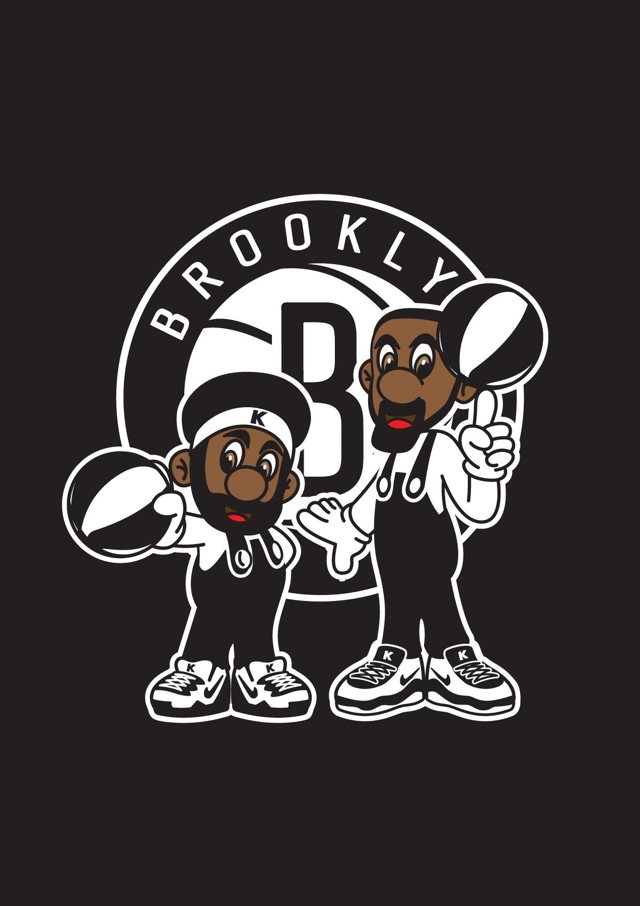 Kevin Durant Kyrie Irving Brooklyn Nets Super Mario