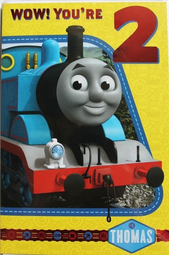 Wow You 039 Re 2 Thomas The Tank Engine Birthday Card Suitable For Male Or Female Birthday Cards Birthday Greeting Cards Thomas The Tank Engine