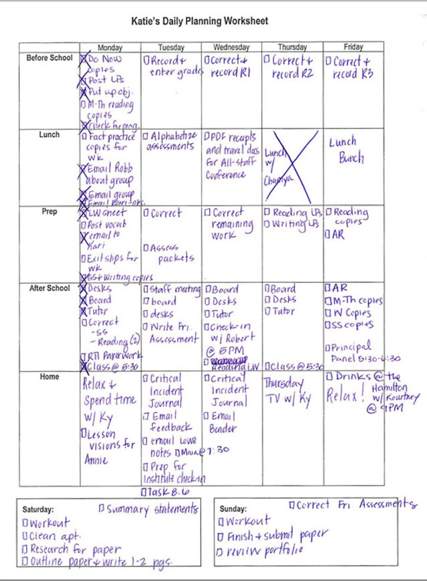 Daily Planning Worksheet  Teacher Teaching Ideas And School