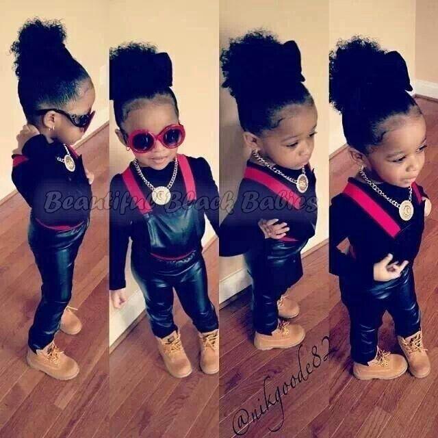 dbdf0dc981f1 Baby you got swag Beautiful black kids. Cute little girl   boys ...