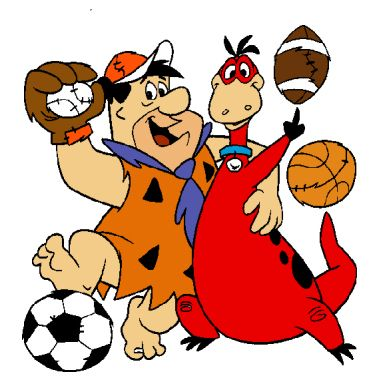 caricatures clip art | Dino and Fred Flintstone Sports Cartoon ...