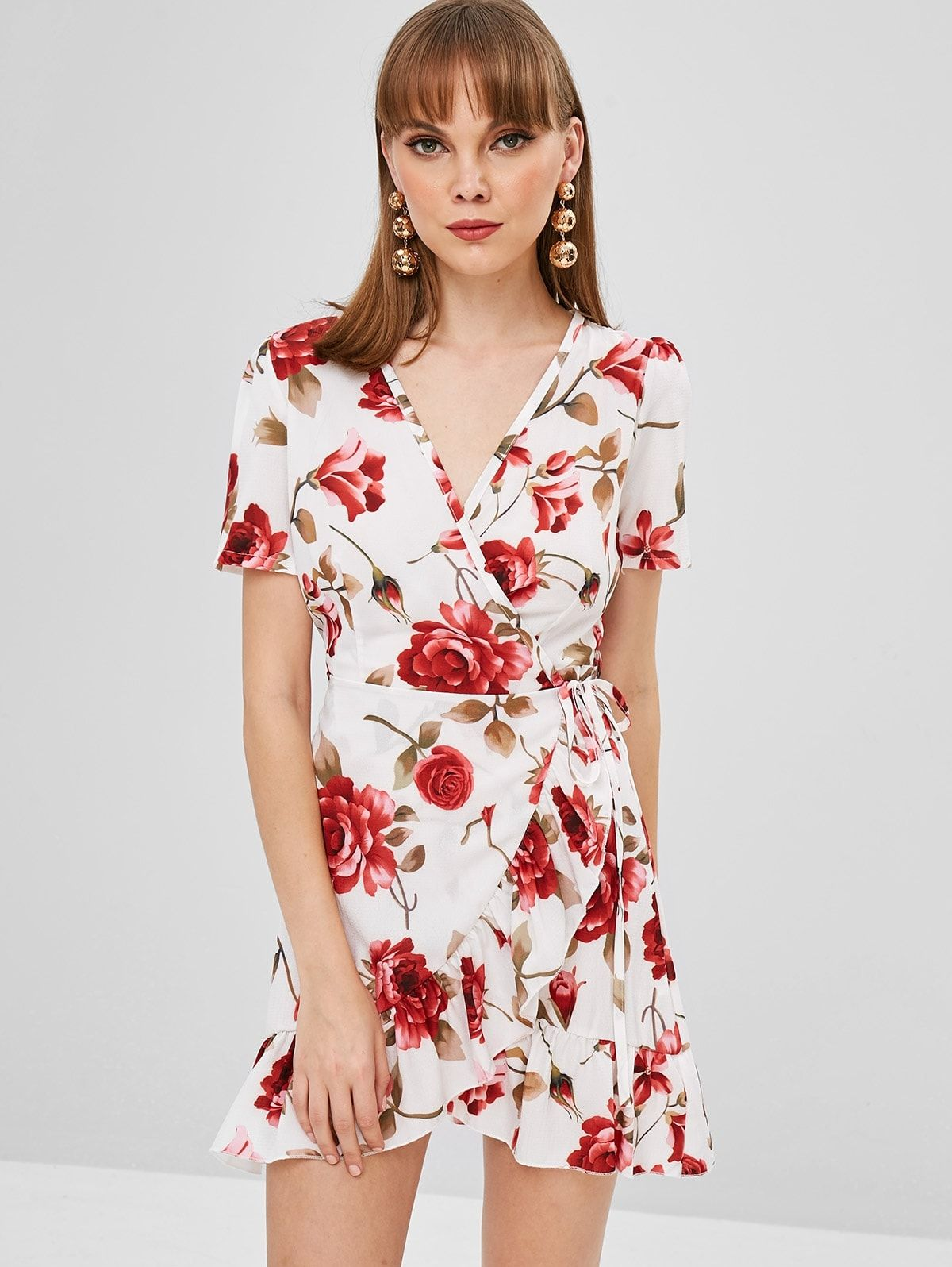 Park Art|My WordPress Blog_White Wrap Dress With Red Flowers