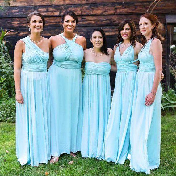 75cd33bf70a MAXI Sky Blue Bridesmaid Dress Convertible Dress Infinity Dress Multiway  Dress Twist Wrap Dress Prom