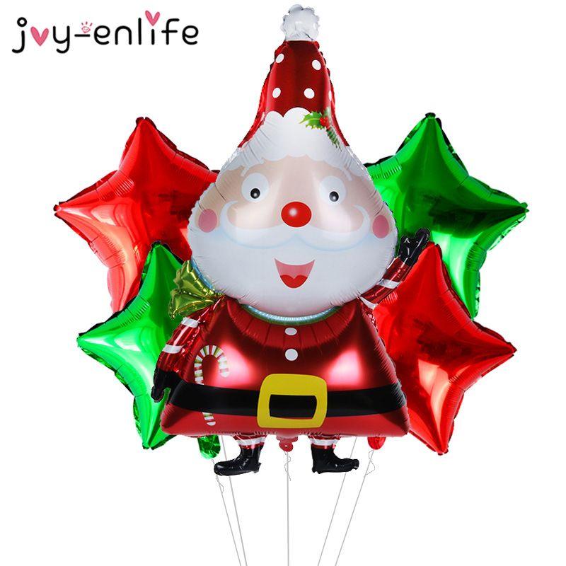 Christmas Series Santa Claus Elk Tree Foil Balloons Xmas Decor Kids Toys GiftsXJ