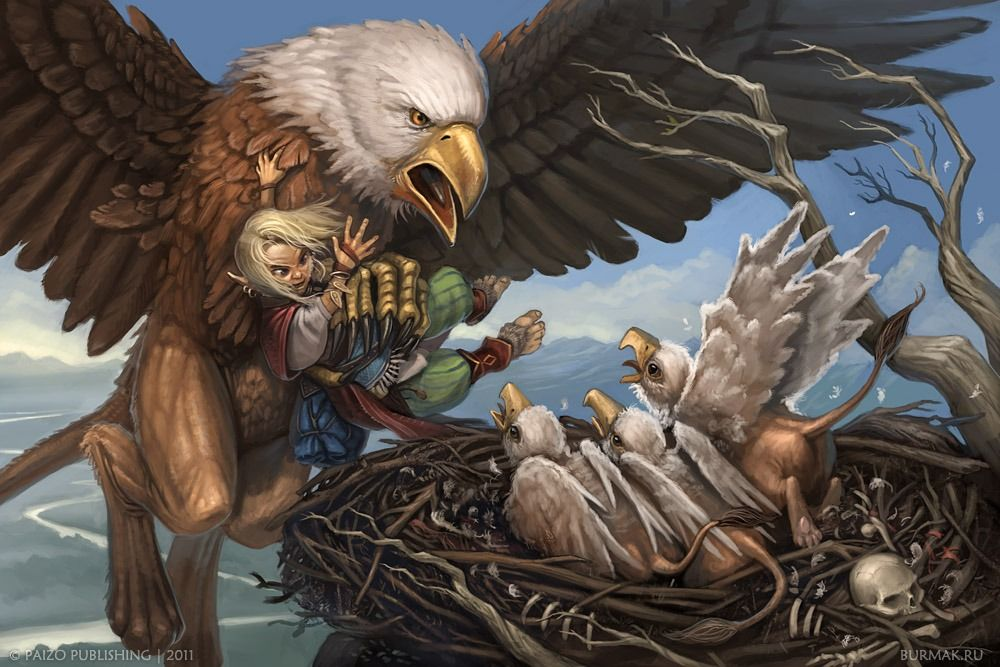 Welcome To Griffon Dinner Picture Big By Burmak Griffin Mythical Fantasy Art Mythical Creatures