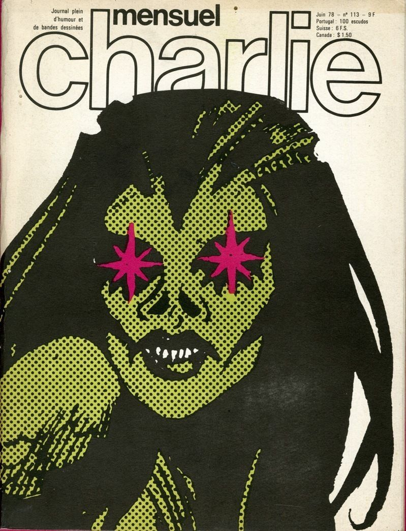 Charlie Mensuel - # 113 - Juin 1978 - Couverture de Jordan