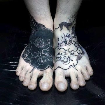 Originales Diseños De Tatuajes En El Pie Para Hombres Tatuajes