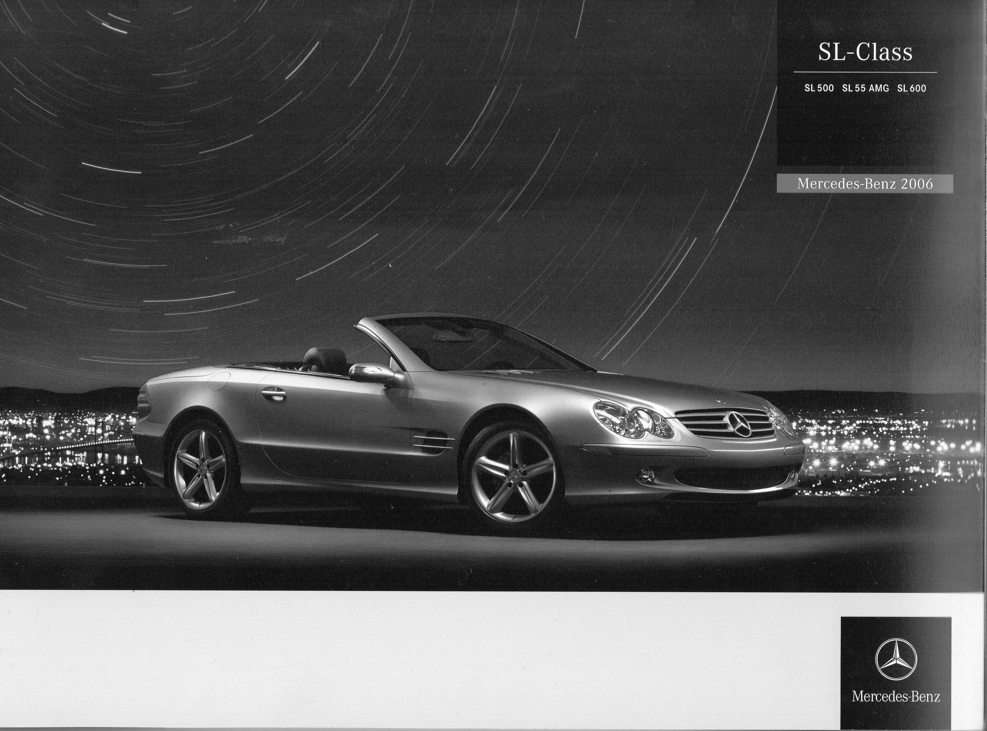 2006 mb sl class brochure mercedes benz 2005 2007 for Mercedes benz e class brochure