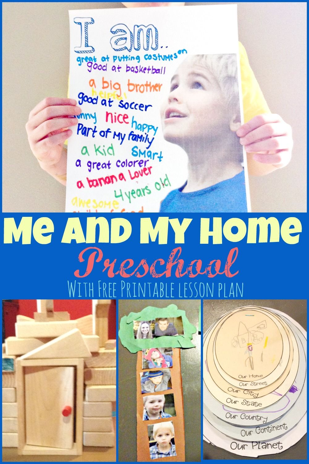 Me and my home preschool theme week with lots of fun ideas