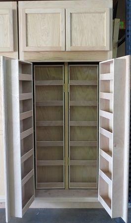 7 Multi Storage Kitchen Pantry Unfinished Oak 7 X 36 X 24
