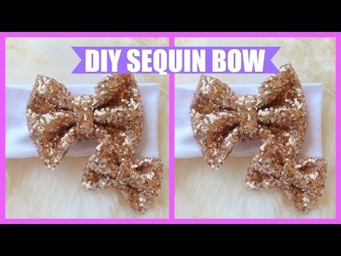 a713845083b DIY  How to Make a Sequin Bow (Simple   Easy) - YouTube