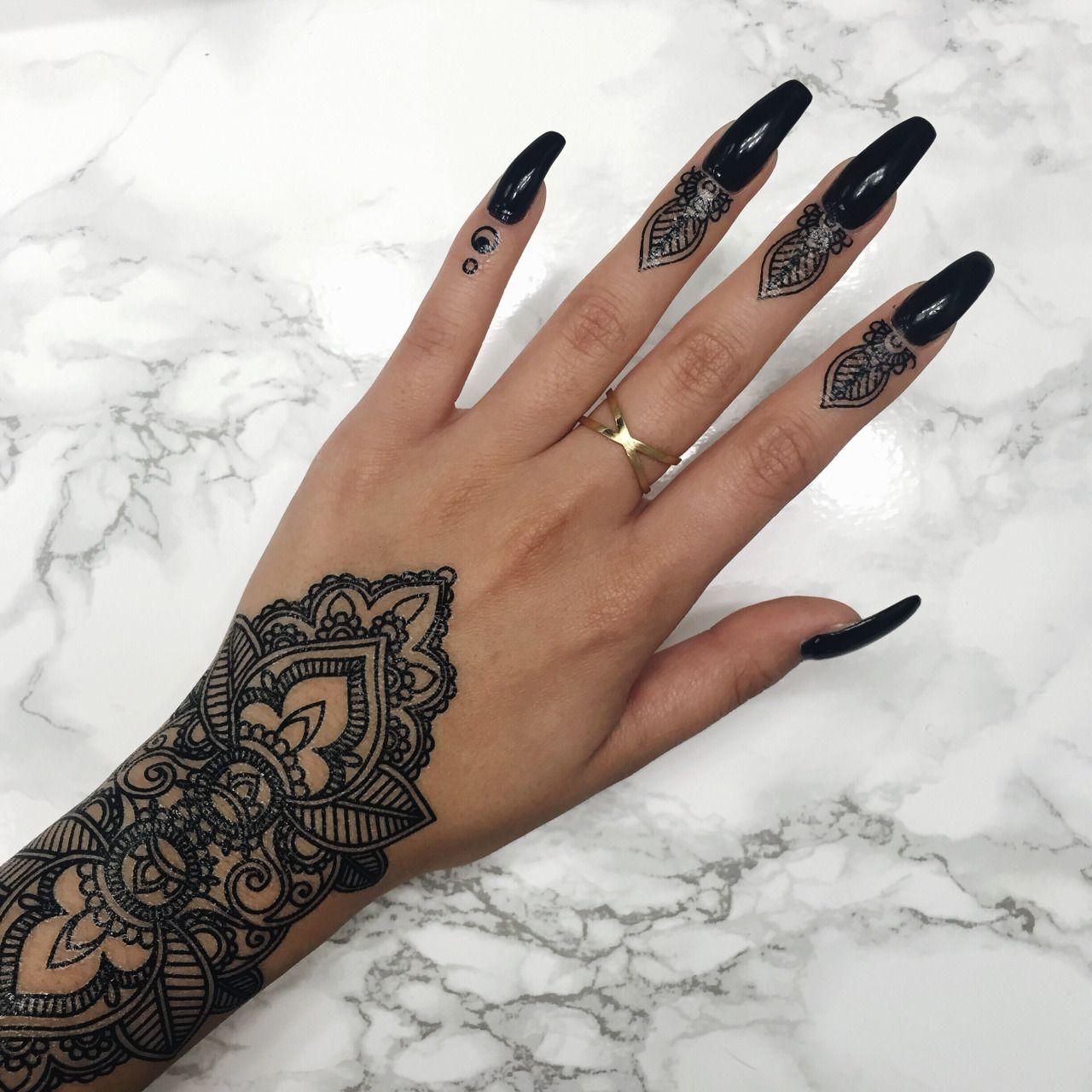 Henna Finger Tattoos: Finger Henna, Hand Tattoos, Tattoos