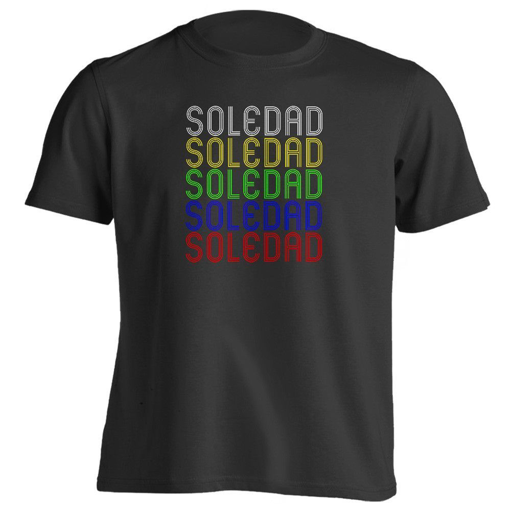 Retro Hometown - Soledad, CA 93960 - Black - Small - Vintage - Unisex - T-Shirt