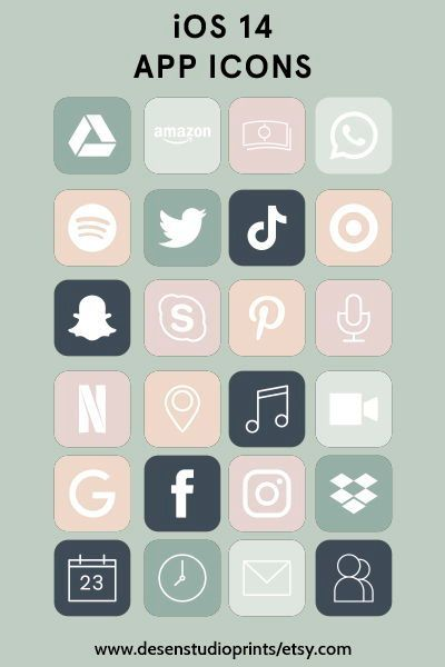 IOS App Icon Bundle App cover iphone Aesthetic app