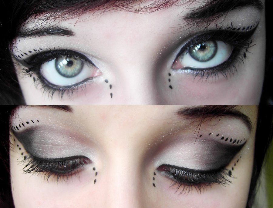 gothic eye makeup | Cyber Gothic Make-up~ by ~MarieMystery on ...