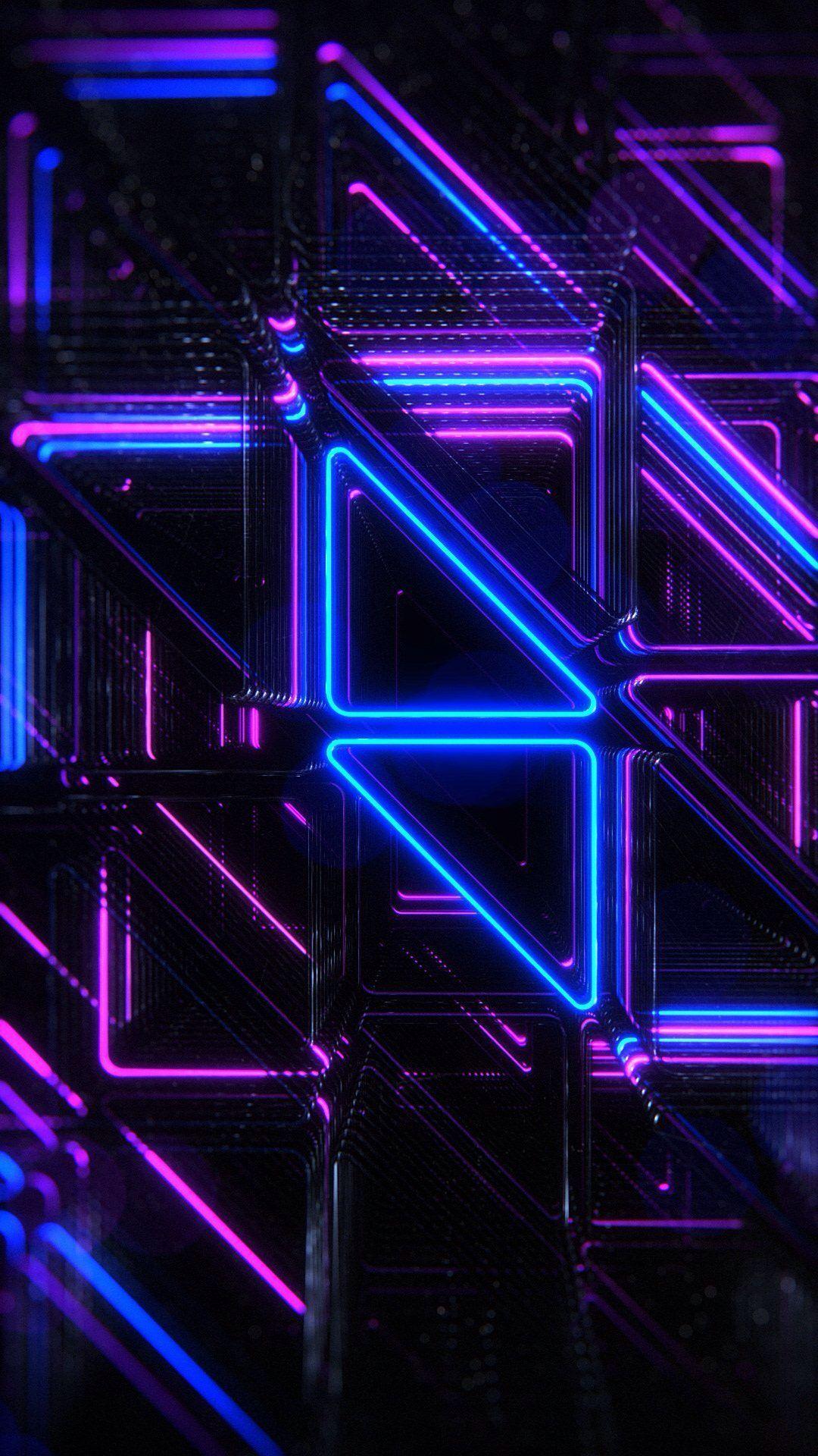 新着5位 3d ネオン Iphone11 スマホ壁紙 待受画像ギャラリー 紫色の壁紙 ネオン デジタル デザイン