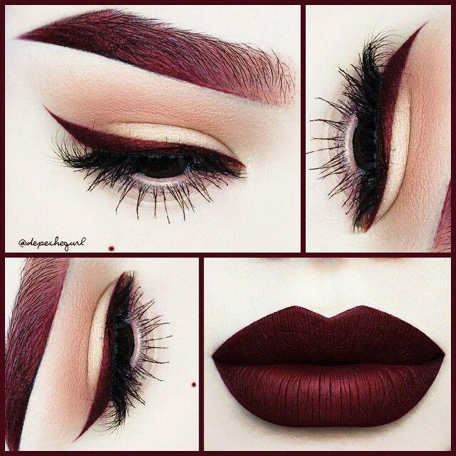 Dark Lipstick Tutorial - Google Search  Makeup, Eye -4471