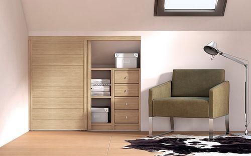 Porte coulissante / en bois / pour placard / pour dressing ORIGINE - creer une porte coulissante