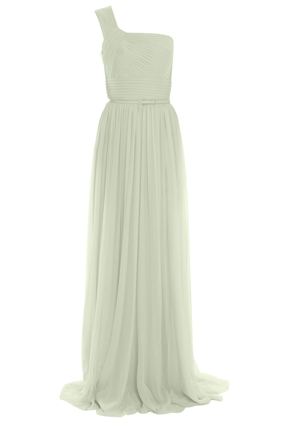 ELIE SAABLk18 1 Shldr Chiffon Dress