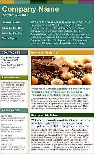 Best Company Newsletters Company newsletter with big header - company newsletter template free