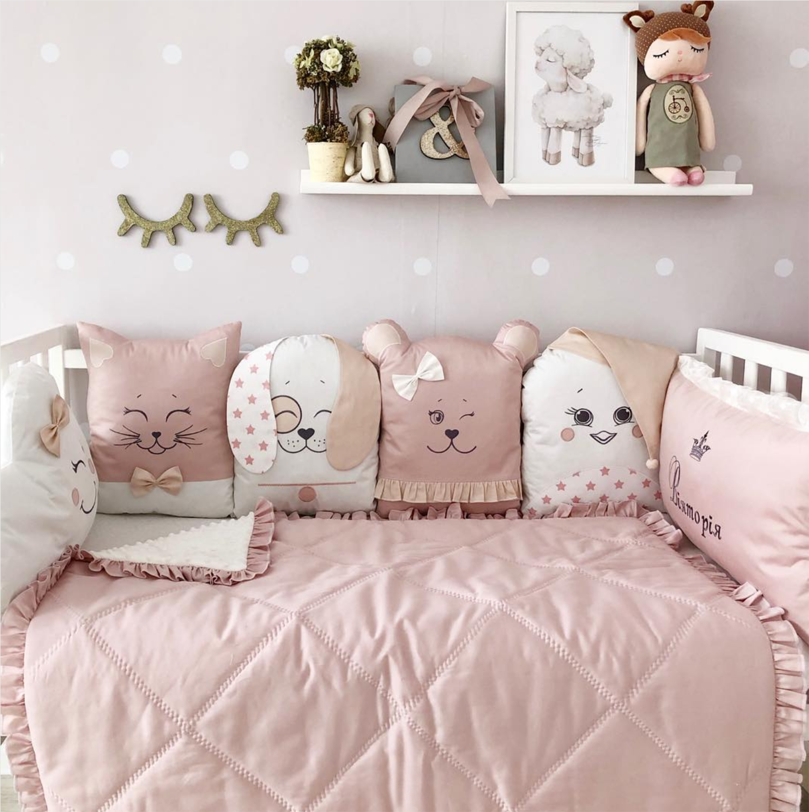 Baby Crib Set For Girl Crib Bumper Pillow Set Crib Baby Blanket