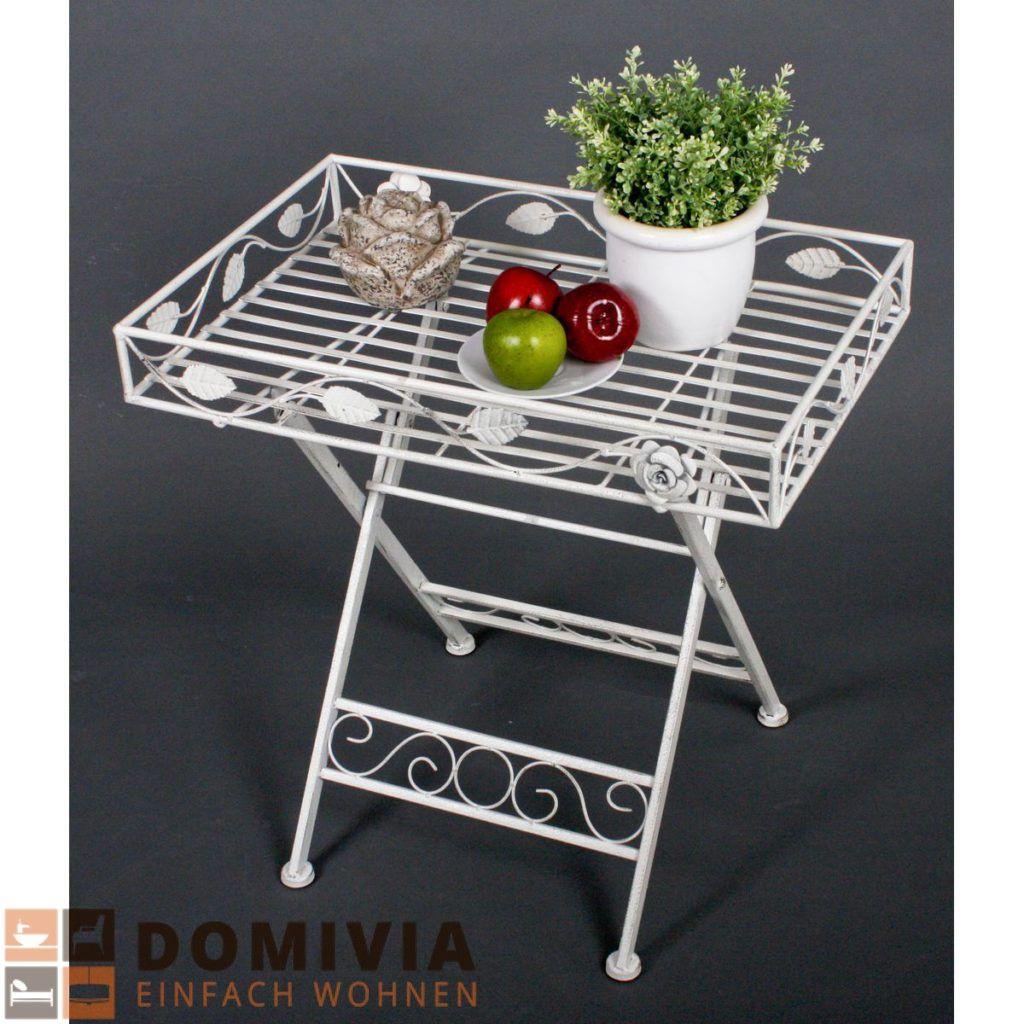 Deko Tisch Mit Einfassung, Rechteckig Eisen Gartendeko 60×40 Cm