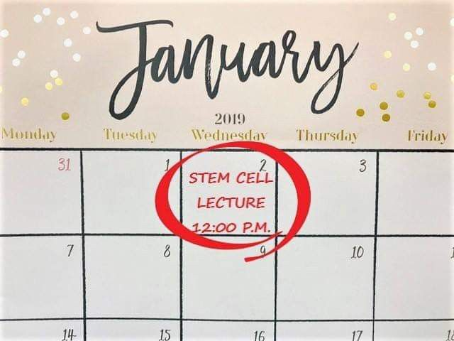 Mark Your Calendars! Free Stem Cell Lecture! Integrated
