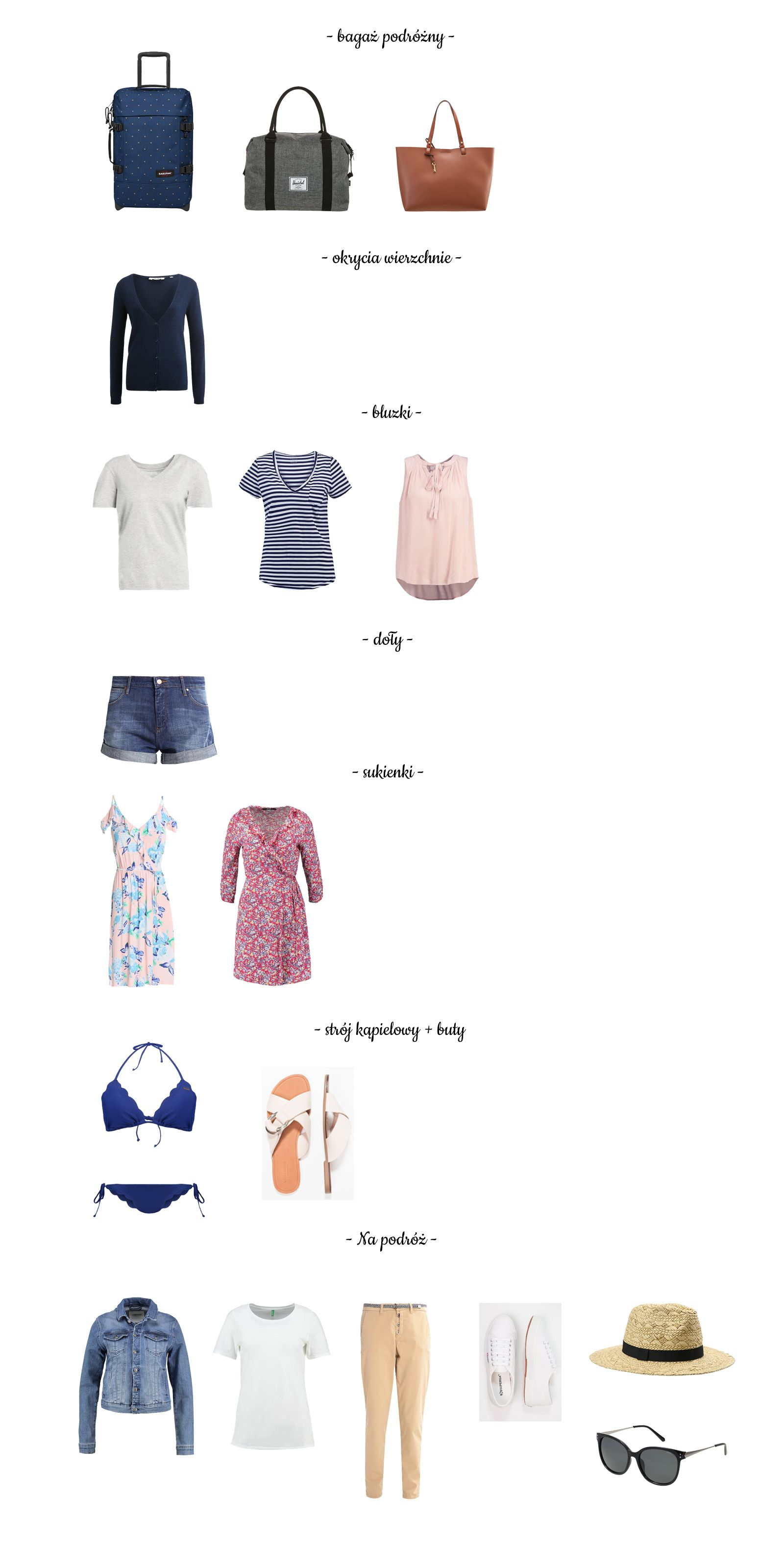 Capsule wardrobe for a trip. How to pack for a two weeks vacation time.