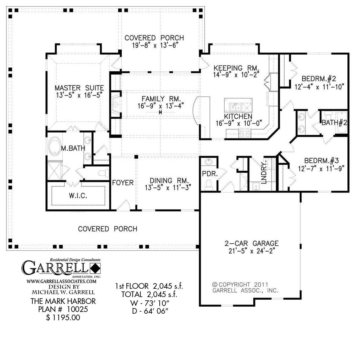 Mark Harbor 10025 1st Floor Coastal House Plans Covered