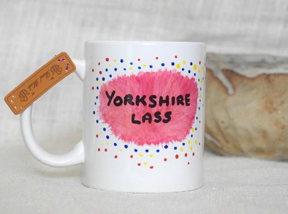 Born and Brewed in Yorkshire Ceramic Coffee Mug Yorkshire Lass A Idea Gift