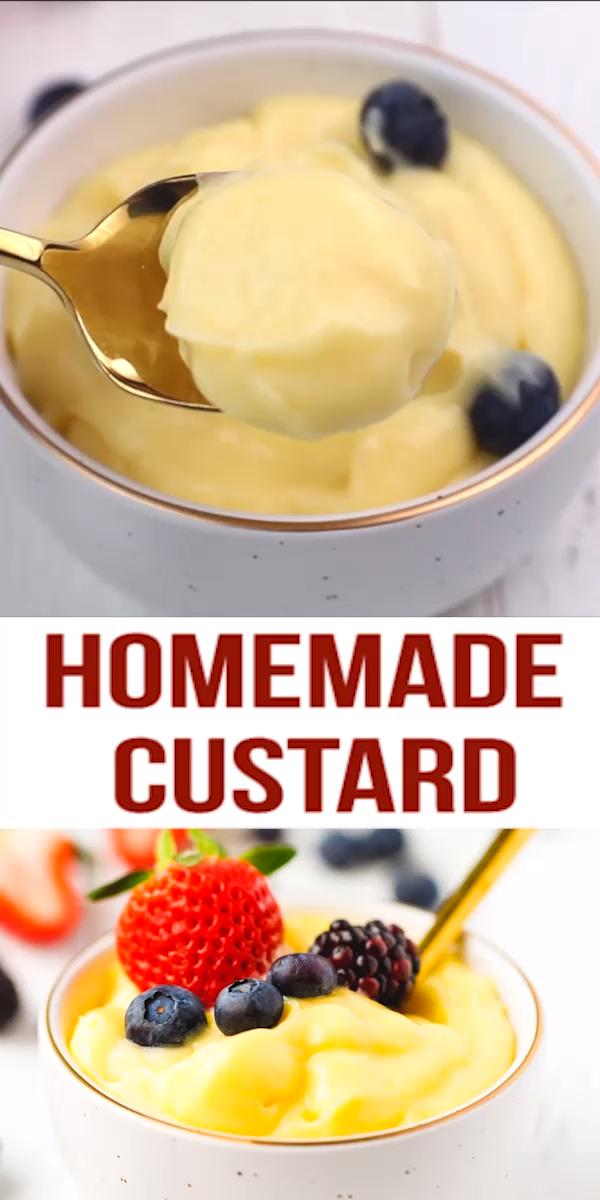 Homemade Custard Recipe (Pastry Cream)