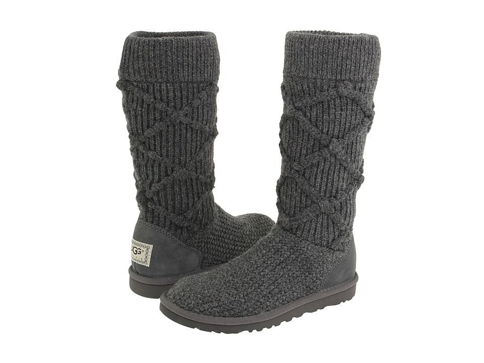 UGG Argyle Knit Boots 5879 Grey $110.24
