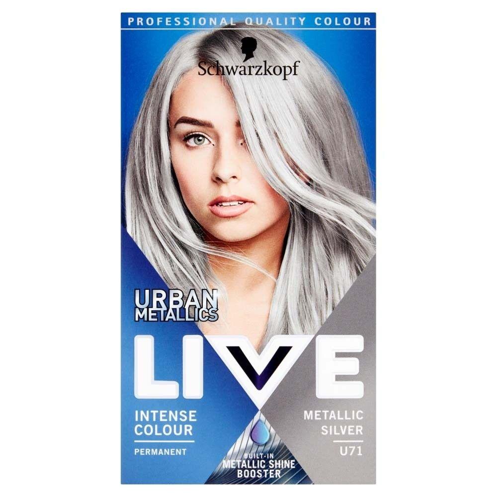 Schwarzkopf Live Urban Metallics U71 Metallic Silver Hair Dye