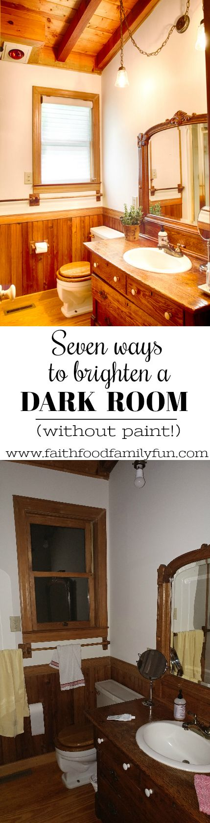 You Can T Just Paint A Log Cabin So I Ve Come Up With Seven Awesome Ideas To Brighten Dark Room No Required Sponsored
