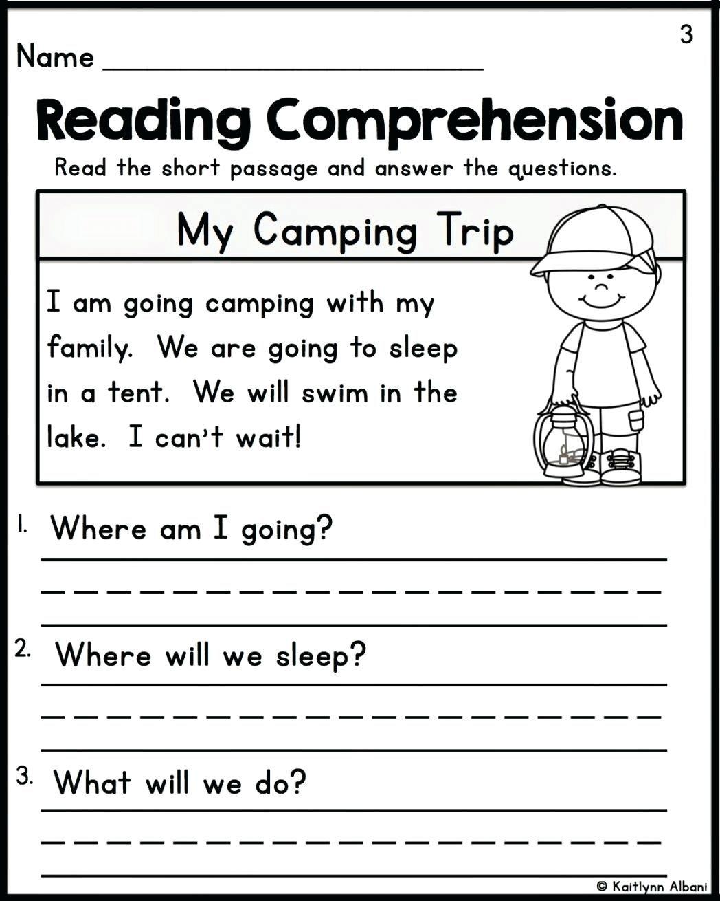 Comprehension Worksheets For Grade 2 In