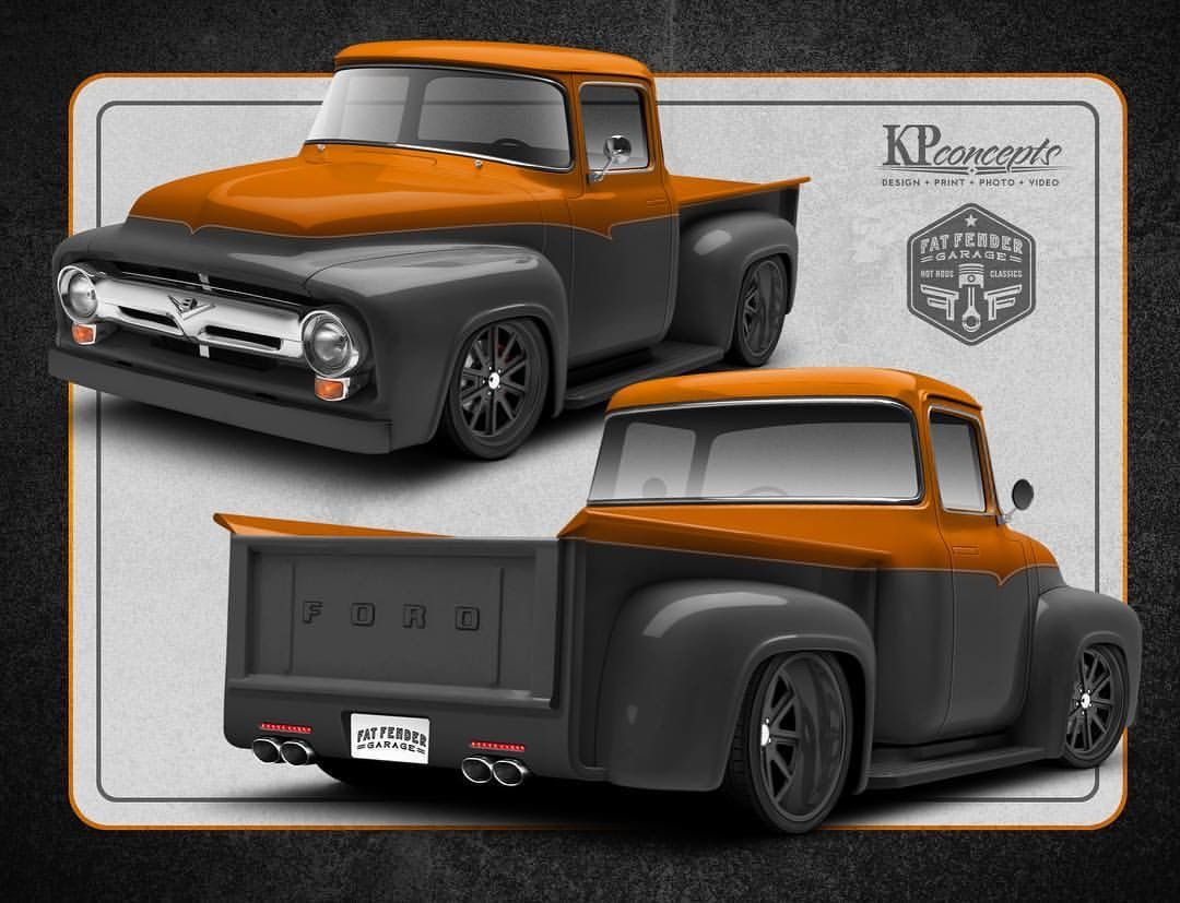 Fat fender garage 1956 ford f 100 design with a for Garage ford 78 plaisir